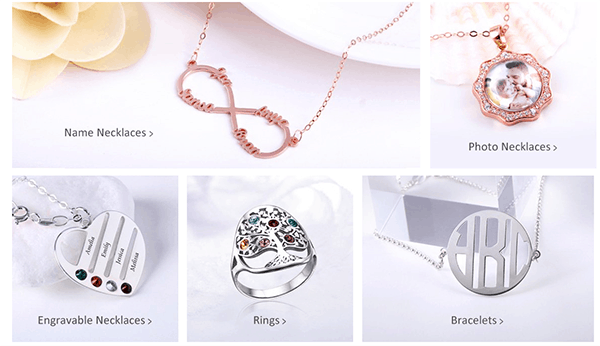 Personalised jewellery by Jeulia