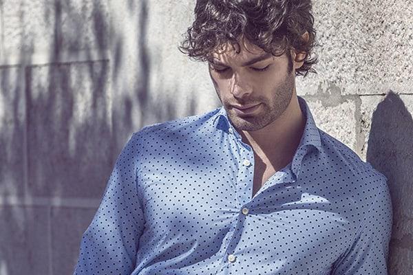 Italian man wearing a tailored shirt