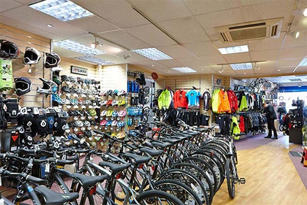 Bicycles for sale inside AW Cycles