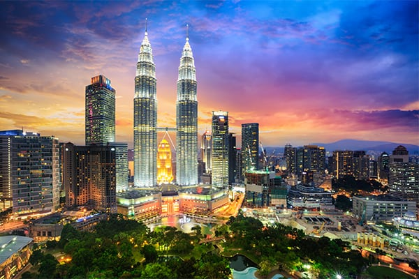 Asia travel twin towers