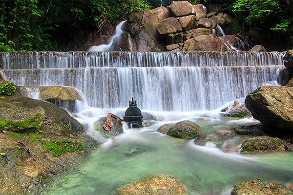 Asia holiday natural waterfalls