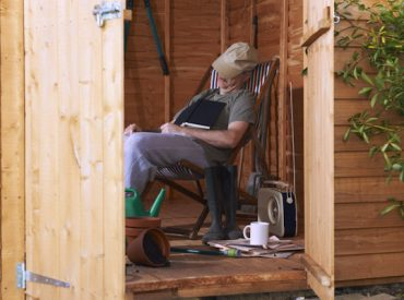 Shed appeal old man napping