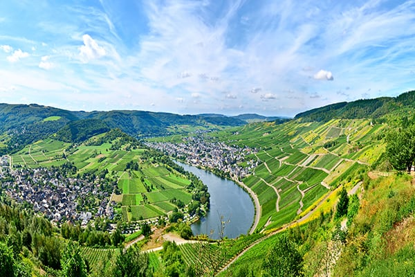 Footpath by the Moselle River, Germany