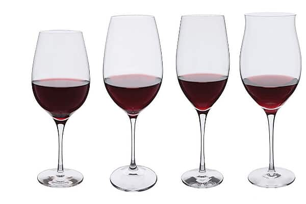 different red wine glass designs