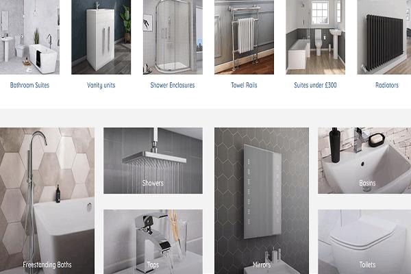 bathroom website screenshot